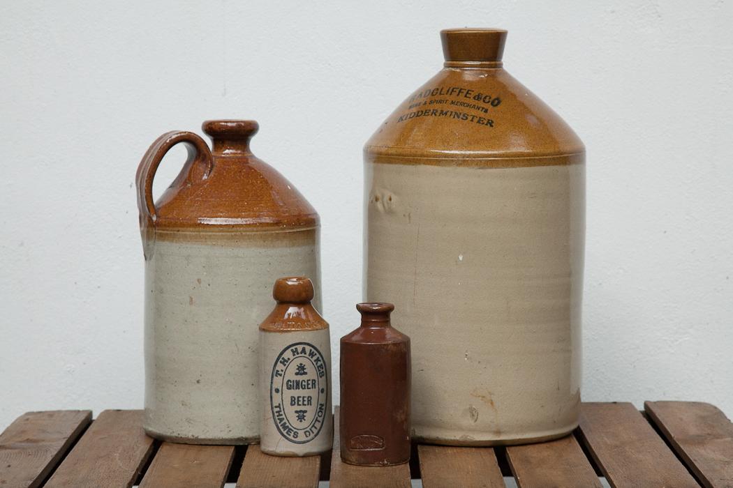 large stoneware bottles – SOLD