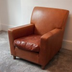 terence conran tan leather armchair – SOLD