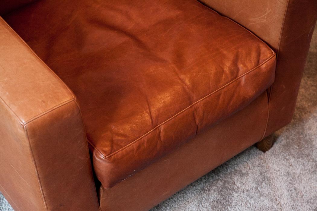 ... Terence Conran Tan Leather Armchair ...
