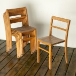 dining chairs (old classroom chairs)