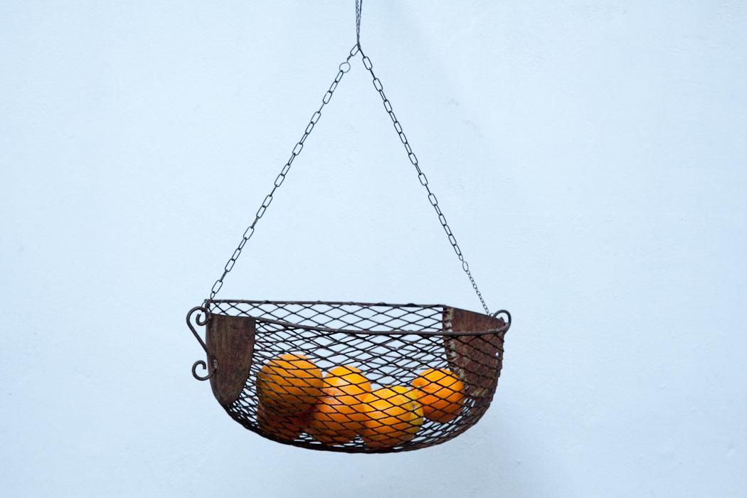 hanging iron basket